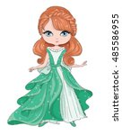 princess girl vector | Shutterstock .eps vector #485586955