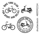 vector image logo bike and... | Shutterstock .eps vector #485592214