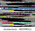 glitch background. computer... | Shutterstock .eps vector #485598511