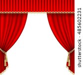 theater stage  with red curtain. | Shutterstock . vector #485602231