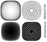radial  concentric shape set.... | Shutterstock . vector #485612749