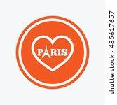 eiffel tower icon. paris symbol.... | Shutterstock .eps vector #485617657