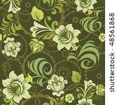 beautiful flower vector... | Shutterstock .eps vector #48561868
