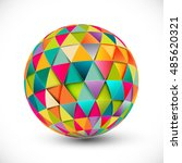 abstract multi colored 3d... | Shutterstock .eps vector #485620321