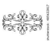 vintage baroque element... | Shutterstock .eps vector #485622817