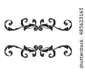 vintage baroque element... | Shutterstock .eps vector #485623165