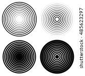 set of 4 concentric circle... | Shutterstock . vector #485623297