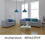 white room with sofa. living... | Shutterstock . vector #485623939