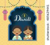diwali   deepavali vector... | Shutterstock .eps vector #485629441