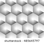 cellular geometric pattern ... | Shutterstock . vector #485645797
