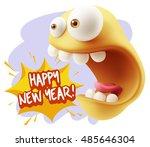 3d rendering surprise character ... | Shutterstock . vector #485646304