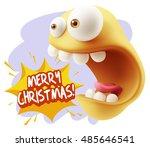 3d rendering surprise character ... | Shutterstock . vector #485646541