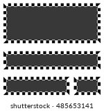 set of blank banners  plaques... | Shutterstock . vector #485653141