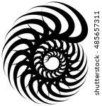 spiral volute  snail shape ... | Shutterstock . vector #485657311