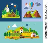 modern flat design conceptual...   Shutterstock .eps vector #485659054