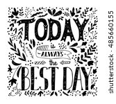 hand drawn monochrome quote... | Shutterstock .eps vector #485660155