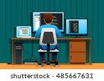 a vector illustration of a man... | Shutterstock .eps vector #485667631