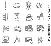 painter icons. painting... | Shutterstock .eps vector #485671147