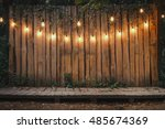 evening wooden stage in the... | Shutterstock . vector #485674369