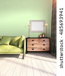 Modern Bright Interior . 3d...