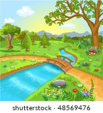 nature landscape with water... | Shutterstock .eps vector #48569476