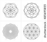 geometrical line ornaments. set ... | Shutterstock .eps vector #485695855