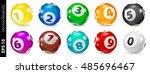 vector colorful bingo lottery... | Shutterstock .eps vector #485696467