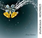 christmas background. silver... | Shutterstock .eps vector #485698825