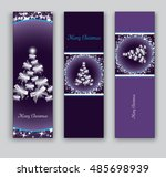 christmas banners or bookmarks. ... | Shutterstock .eps vector #485698939