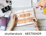 high quality brand exclusive... | Shutterstock . vector #485700409