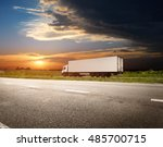 the highway transportation with ... | Shutterstock . vector #485700715