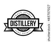 distillery vintage logo vector | Shutterstock .eps vector #485707027