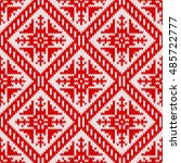 seamless knitting pattern with...   Shutterstock .eps vector #485722777