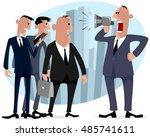 vector illustration of a six... | Shutterstock .eps vector #485741611
