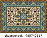 colorful mosaic rug with... | Shutterstock .eps vector #485742817