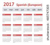 Calendar 2017  Spain . Europea...