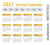 2017 german calendar. week...   Shutterstock .eps vector #485747311