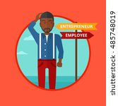 an african american man... | Shutterstock .eps vector #485748019