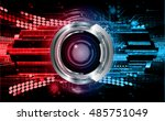future technology  red blue... | Shutterstock .eps vector #485751049