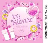 valentine's day elements   ...   Shutterstock .eps vector #485757451