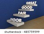 poor fair good great grades... | Shutterstock . vector #485759599