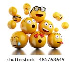 3d illustration. emojis icons... | Shutterstock . vector #485763649