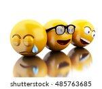 3d illustration. emojis icons...   Shutterstock . vector #485763685