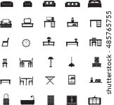 home furniture icons set   Shutterstock .eps vector #485765755