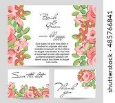 vintage delicate invitation... | Shutterstock . vector #485766841