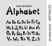 alphabet. individual hand... | Shutterstock . vector #485768155