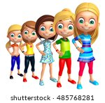 3d rendered illustration of kid ... | Shutterstock . vector #485768281