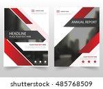 red technology business... | Shutterstock .eps vector #485768509