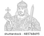 stylized king  prince or royal... | Shutterstock .eps vector #485768695