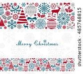 christmas greeting card.... | Shutterstock .eps vector #485768815